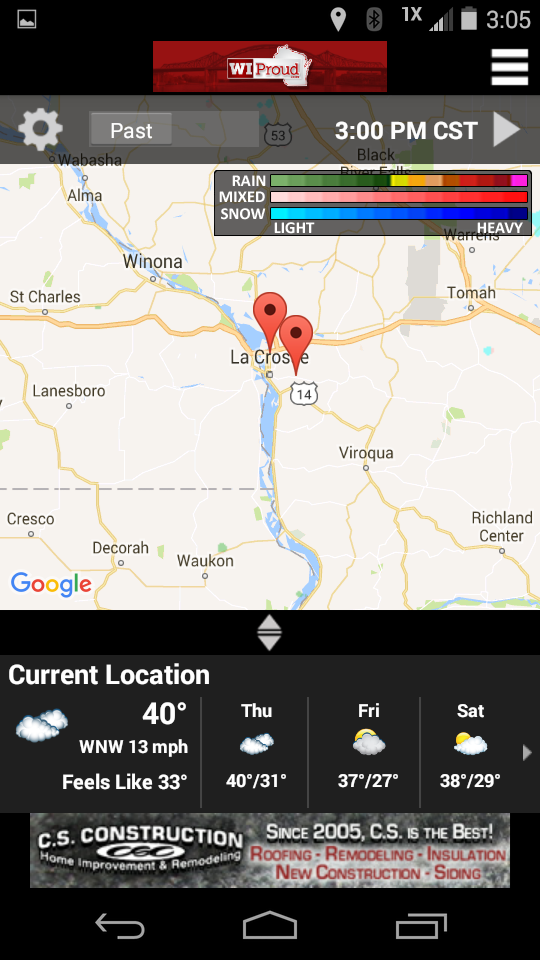 WIProud Mobile App Weather