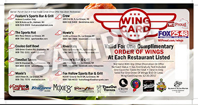 Order Your Wing Card