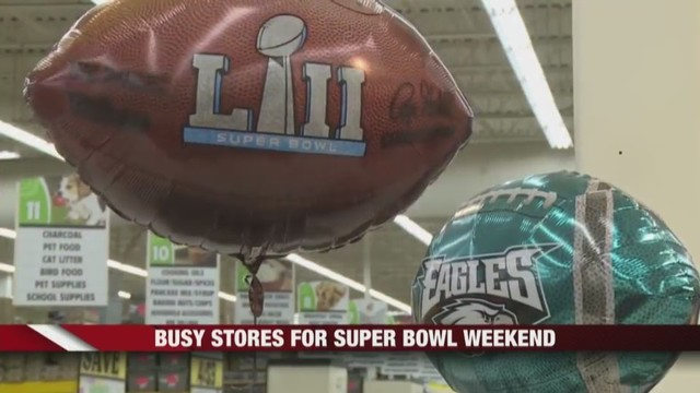 Restaurants And Stores Busy For Super Bowl