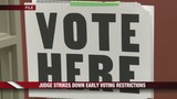 Federal Judge Strikes Down Early Voting Restrictions